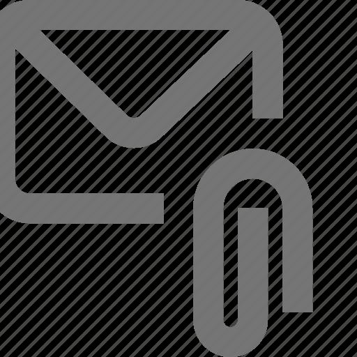 att, attach, attachment, mail, material, message, outline icon