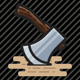 axe, chop, hatchet, lumberjack icon