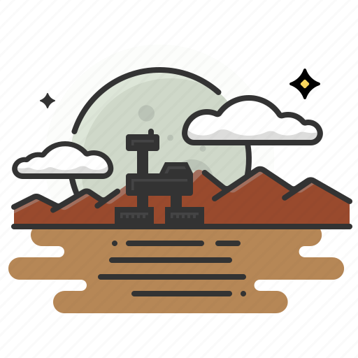 mars, rover icon