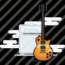 les paul, electric guitar, musician, guitar, music, gibson icon