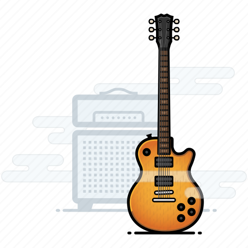 electric guitar, gibson, guitar, les paul, music, musician icon