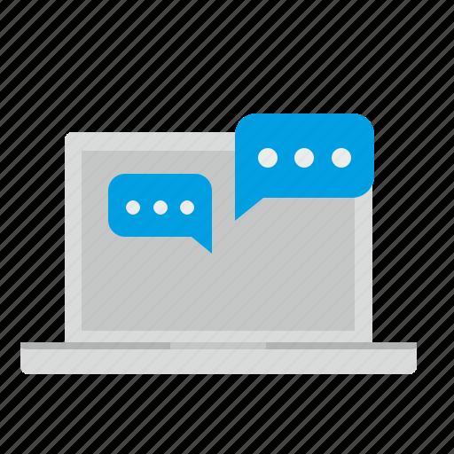 dialog, im, message, notebook, online icon