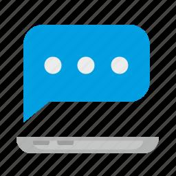 message, online, signal, smartphone, speach icon