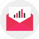 business, data, email, envelope, results icon