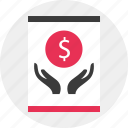 aquiring, business, growing, holding, money icon