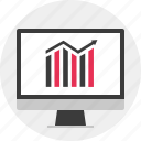 business, data, online, results icon