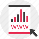 arrow, business, data, online, results, web icon