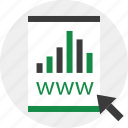 arrow, bars, business, contract, report icon