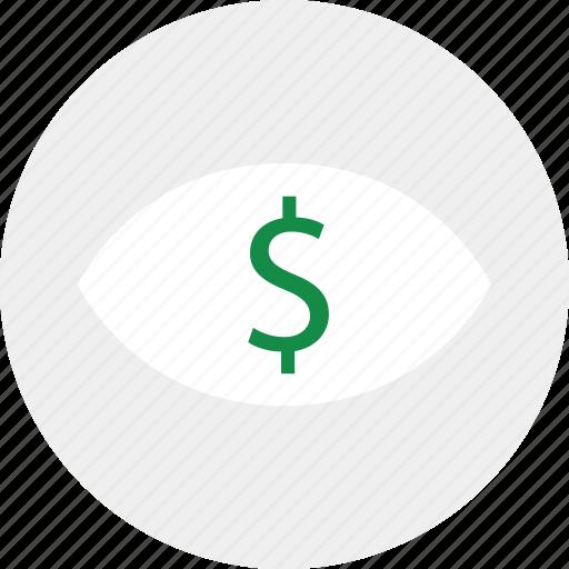 business, eye, money icon