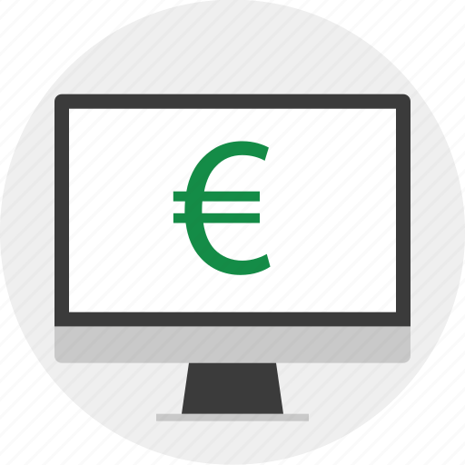 business, euro, monitor, screen icon