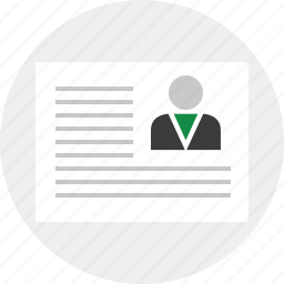 business, document, layout, page icon