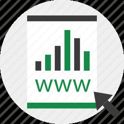 arrow, bars, contract, report icon