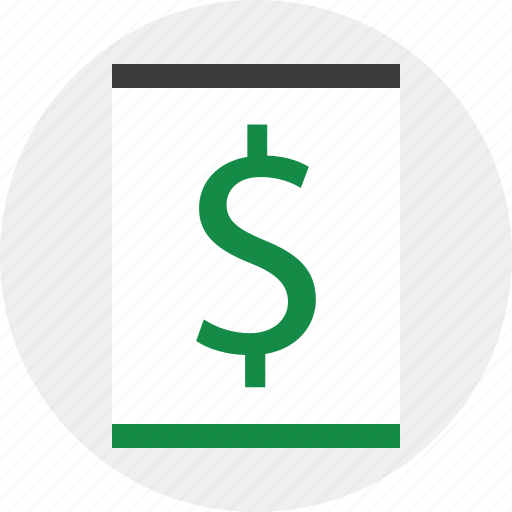 dollar, money, sign icon