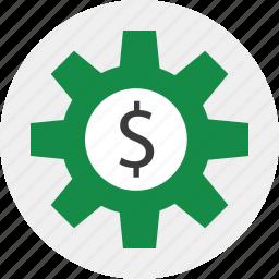 gear, online, setup, web icon