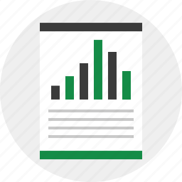 bars, graph, layout icon