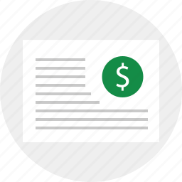 contract, document, layout icon