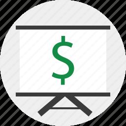 dollar, learn, sign icon