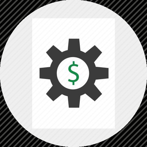 dollar, options, setup icon