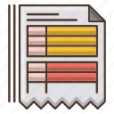 document, education, knowledge, online, program, school, study icon