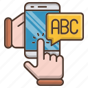 abc, distance, education, knowledge, online, school icon