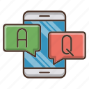 answer, education, help, knowledge, online, question, school icon