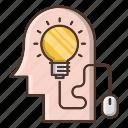 creative, education, idea, knowledge, online, school, smart icon