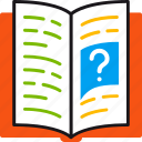 book, education, instruction, knowledge, learning, question, read icon