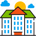 building, campus, education, learning, school, study, university icon