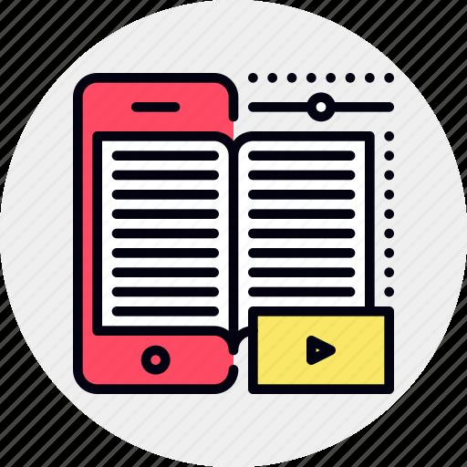 book, ebook, mobile icon