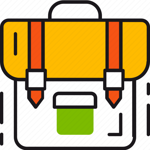 School, backpack, education, kids, knowledge, student, study icon - Download on Iconfinder