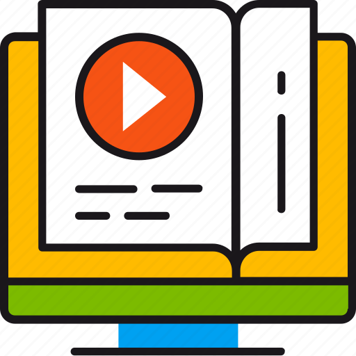 course, education, lessons, online, study, tutorials, video icon