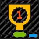 achievement, award, best, cup, results, reward, success icon