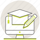 education, learning, online, study icon