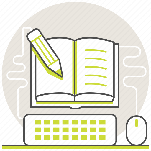 education, homework, learning, lessons, online, step, test icon