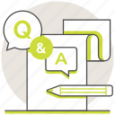 answers, education, online, q&a, questions icon