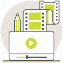 clip, education, learning, online, tutorial, vdo, video icon