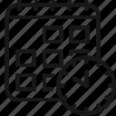 calendar, classes, clock, curriculum, date, schedule, time icon
