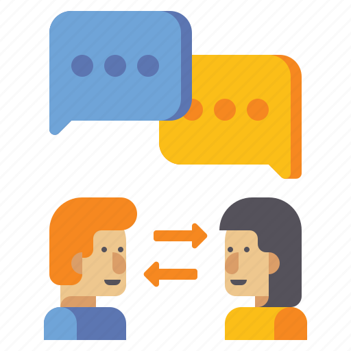 communication, interaction, message, talk icon