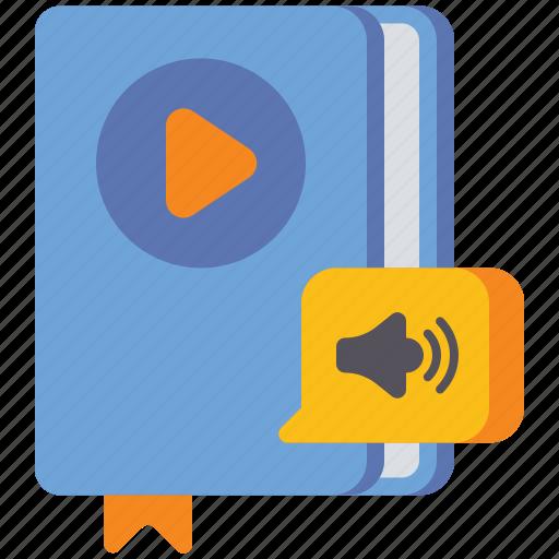 audio, book, education., media icon