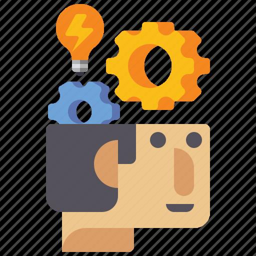 brainstorming, bulb, idea, think icon
