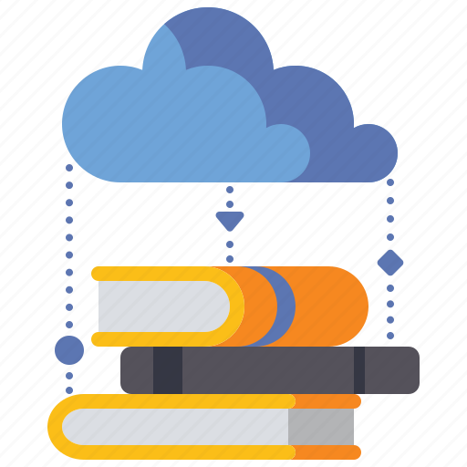 Cloud, knowledge, library, storage icon - Download on Iconfinder