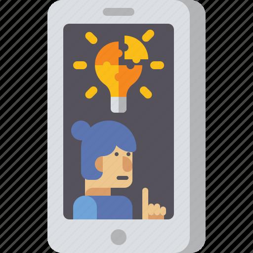 bulb, creative, idea, teaching icon