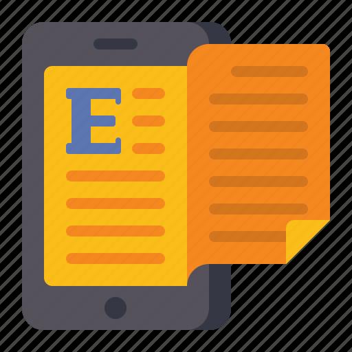book, ebook, education, reading icon