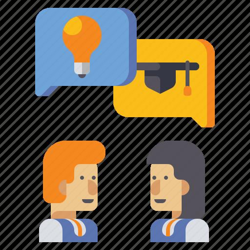 communication, education, forum, learning icon