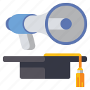 advertising, educational, marketing, megaphone icon