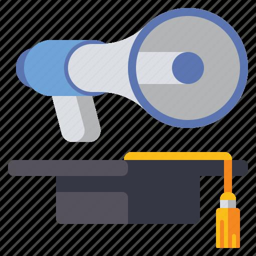 Advertising, educational, marketing, megaphone icon - Download on Iconfinder
