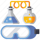 experiment, flask, laboratory, science