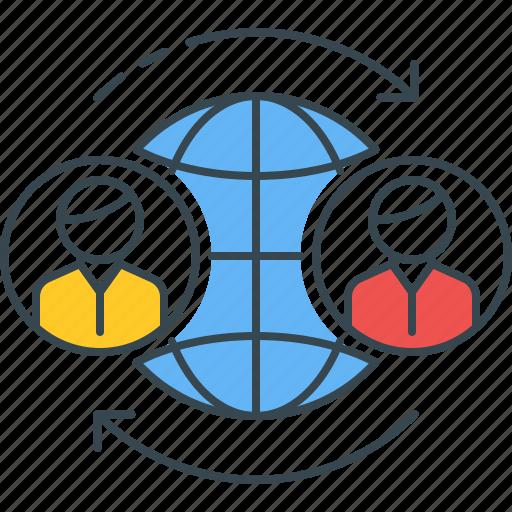 chat, communication, conversation, global, two, way, worldwide icon