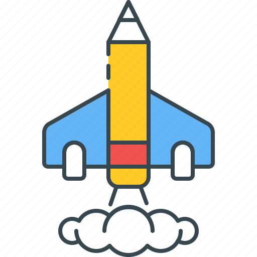 adventure, journey, launch, rocket, shuttle, space, startup icon
