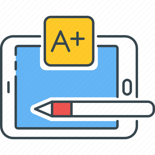 a+, best, grade, marks, result, test icon